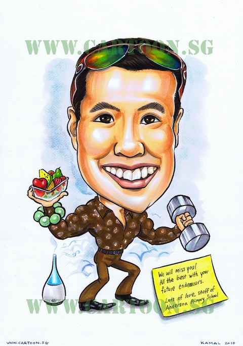 Caricature A3 Size Drawing with Full Body - Mambo!
