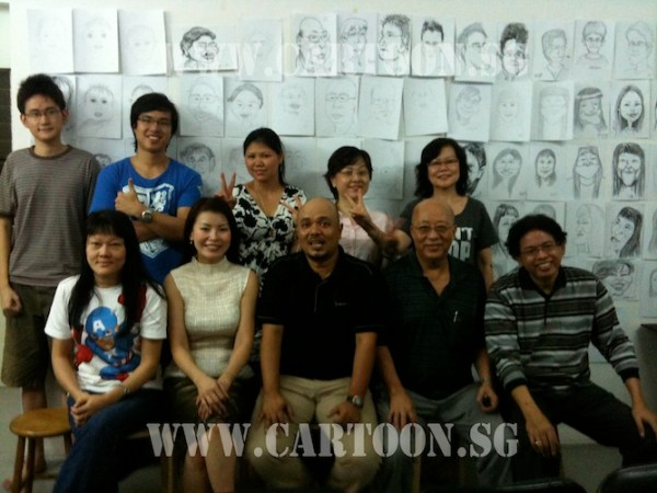 2nd Intake Cartoon.sg caricature class