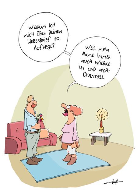 Thomas Luft, Cartoon, Lustig, Liebesbrief