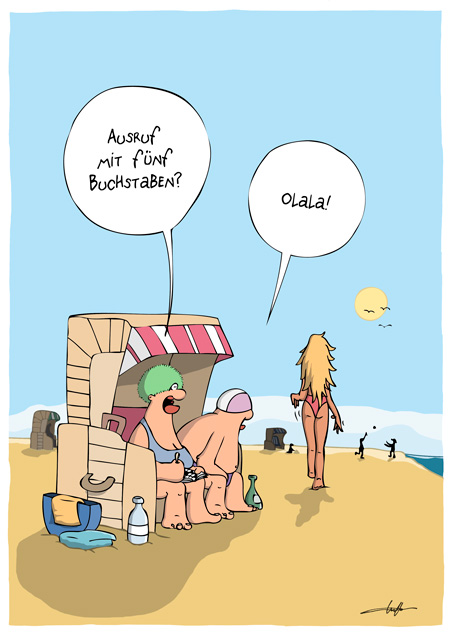 Thomas Luft, Cartoon, Lustig, Olala