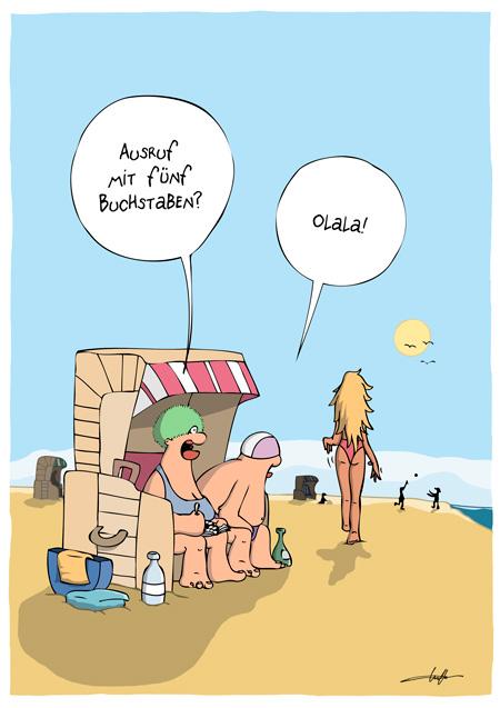 Thomas Luft, Cartoon, Lustig, Olala