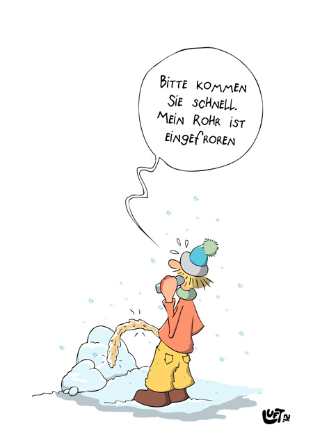 Thomas Luft, Cartoon, Lustig, Rohr