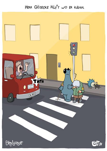 Thomas Luft, Cartoon, Lustig, Hilfsbereitschaft