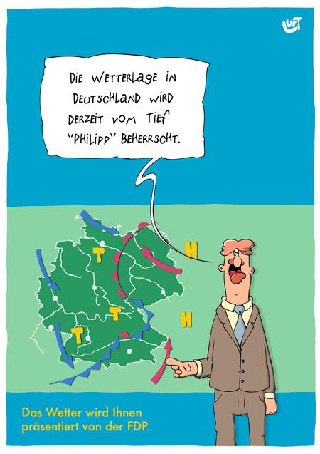 Thomas Luft, Cartoon, Lustig, Tiefdruckgebiet