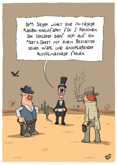 Thomas Luft, Cartoon, Lustig, Duell