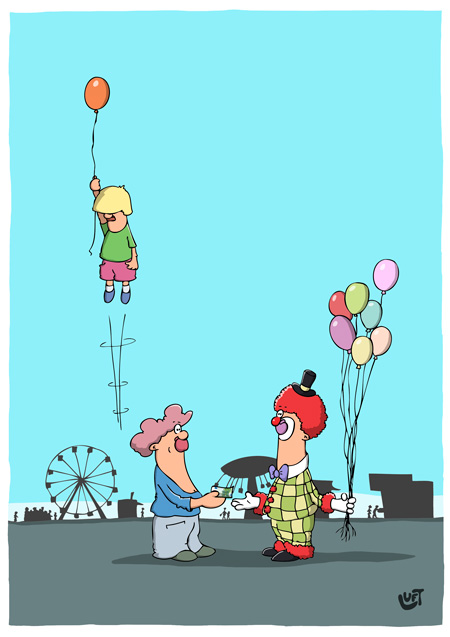Thomas Luft, Cartoon, Lustig, Ballon