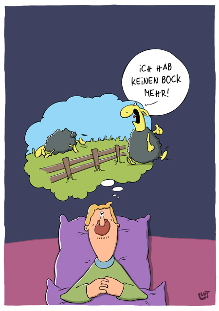 Thomas Luft, Cartoon, Lustig, Schafe