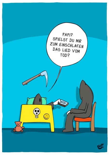 Thomas Luft, Cartoon,  Lustig, Einschlafen