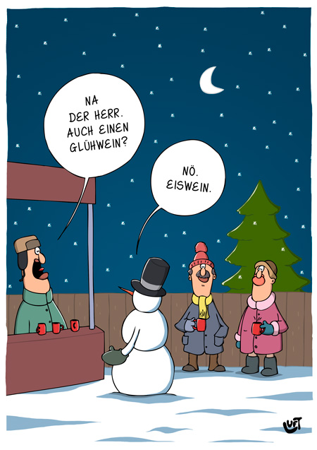 Thomas Luft, Cartoon, Lustig, Glühwein