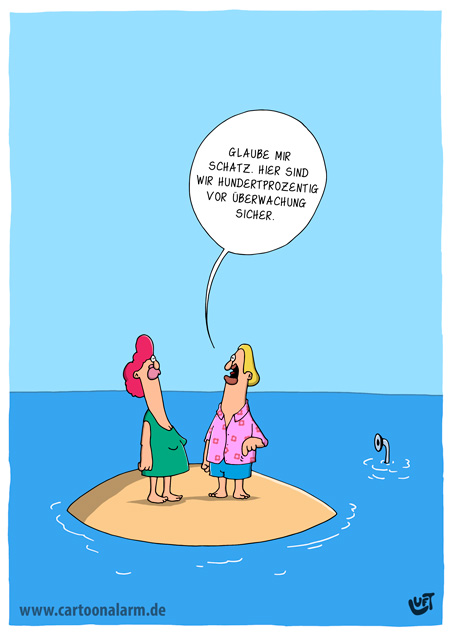 Thomas Luft, Cartoon, Lustig, Überwachung