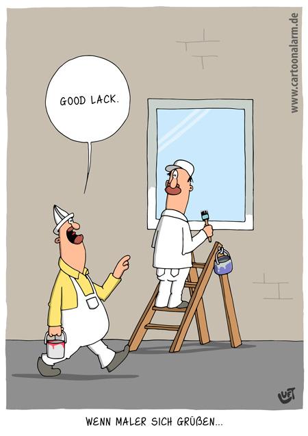 Thomas Luft, Cartoon, lustig, Malergruß