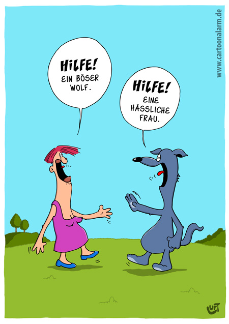 Thomas Luft, Cartoon, lustig, böser Wolf