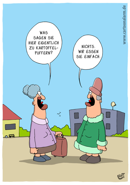 Thomas Luft, Cartoon, lustig, Kartoffelpuffer