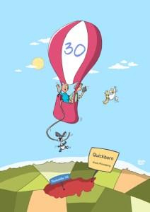 Thomas Luft, Cartoon, Geburtstagskarte, lustig