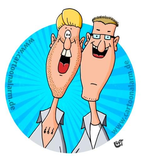 Thomas Luft, Cartoon, Illustration, lustig, Karikatur, Brothers