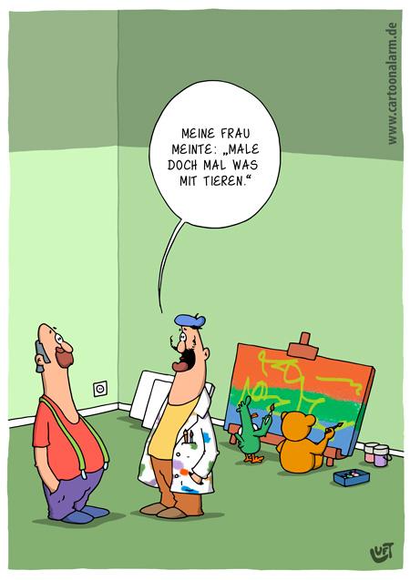 Thomas Luft, Cartoon, lustig, Malen