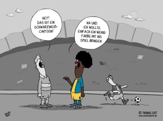 Thomas Luft, Cartoon, lustig, Schwarz-Weiß