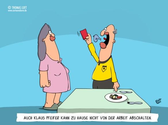 Thomas Luft, Cartoon, lustig, Schiedsrichter