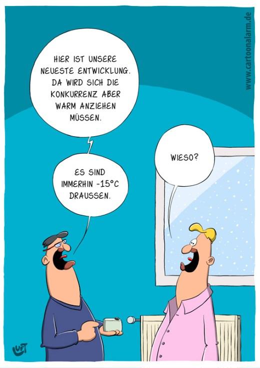 Thomas Luft, Cartoon, lustig, Warm anziehen