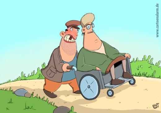 Thomas Luft, Cartoon, lustig, schieben