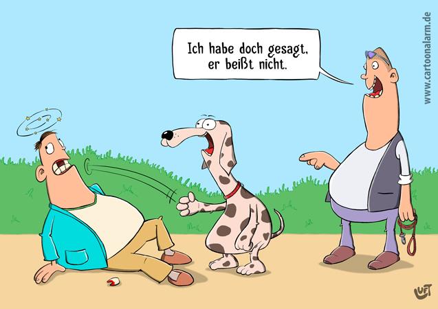 Thomas Luft, Cartoon, lustig, Beißen