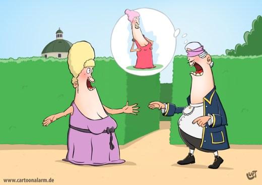 Thomas Luft, Cartoon, lustig, Überraschung
