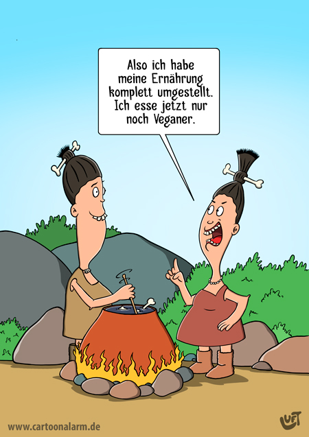 Thomas Luft, Cartoon, lustig, Veganer