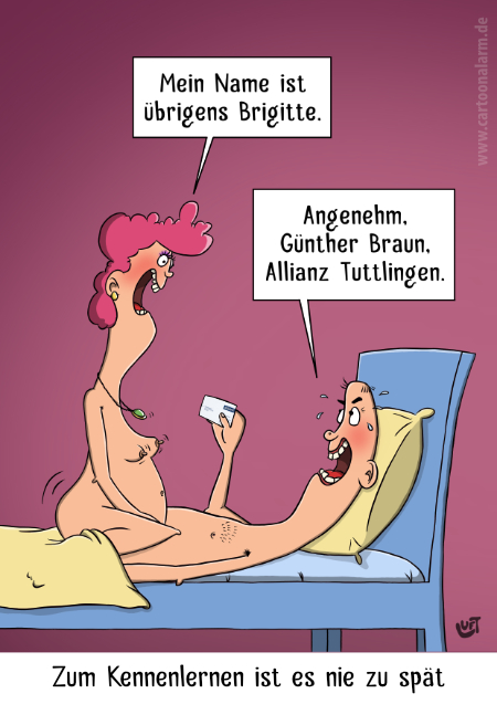 Thomas Luft, Cartoon, lustig, Kennenlernen