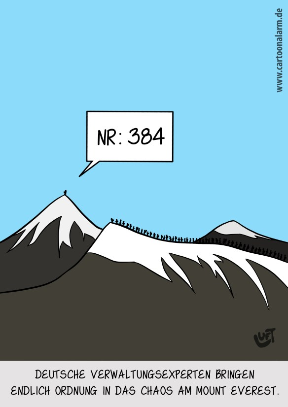 Thomas Luft, Cartoon, lustig, Mount Everest