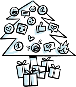 Use social media with your holiday marketing