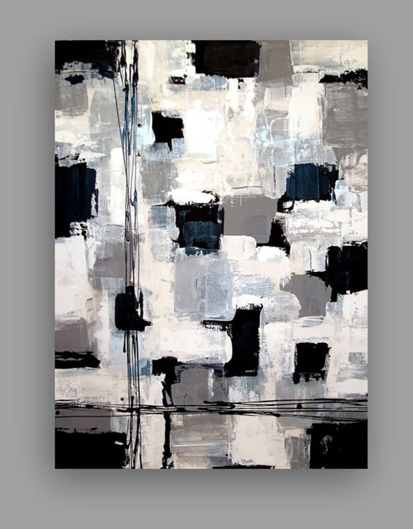Black White Easy Canvas Painting Ideas For Beginners Novocom Top