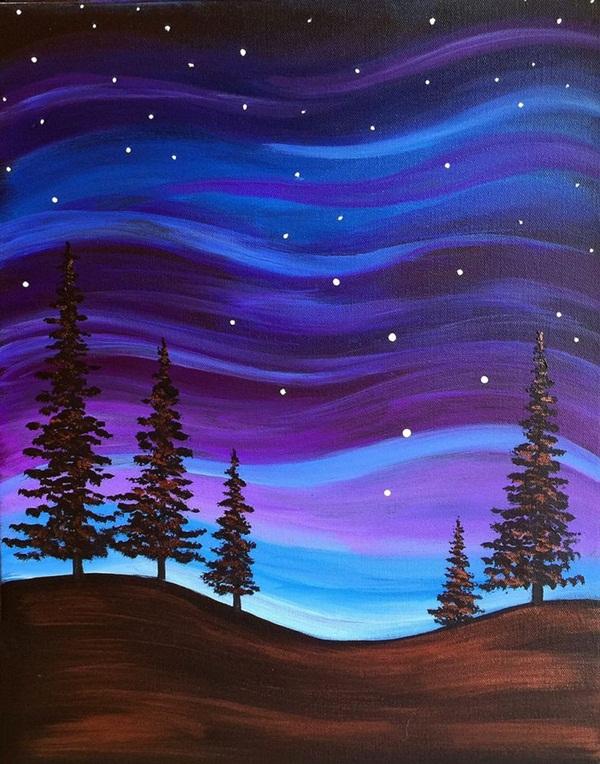 Beginner Small Canvas Paintings Easy Novocom Top