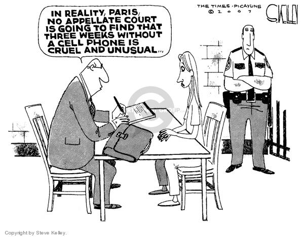 Eighth Amendment Political Cartoon