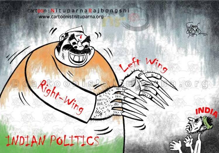Demonizing-Politics cartoon by Nituparna Rajbongshi