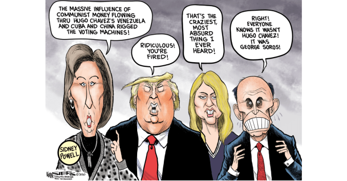 Conspiracy Theories by Kevin Siers, The Charlotte Observer, NC