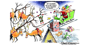Santa and fog by Dave Granlund, PoliticalCartoons.com