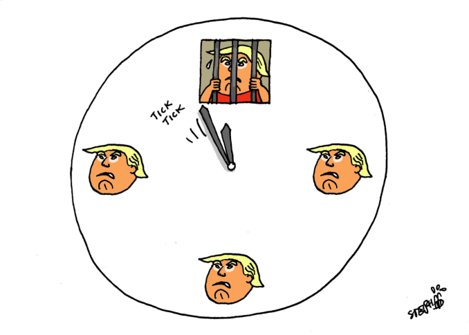 Clock is Ticking for Trump by Stephane Peray, Thailand