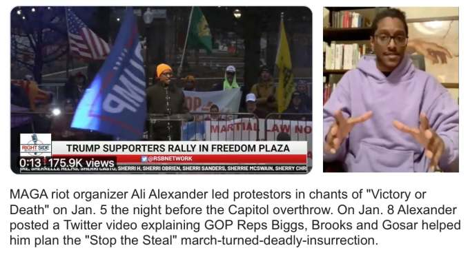 """MAGA riot organizer Ali Alexander says GOP Reps Biggs, Brooks and Gosar helped him plan the """"Stop the Steal"""" march-turned-deadly-insurrection"""