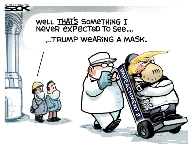 Masked at Last by Steve Sack, The Minneapolis Star-Tribune, MN