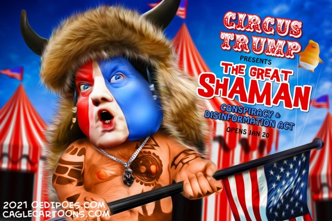 The Great Shaman by Bart van Leeuwen, PoliticalCartoons.com
