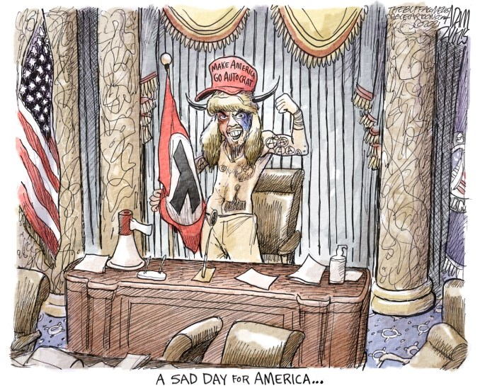 The coup by Adam Zyglis, The Buffalo News, NY