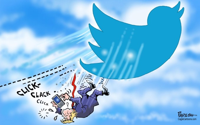 Twitter bans Trump by Paresh Nath, U.T. Independent, India