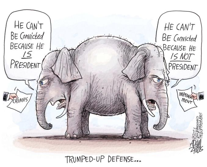 Avoiding Conviction by Adam Zyglis, The Buffalo News, NY