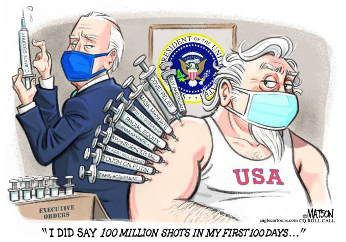 Biden Is Vaccinator In Chief by R.J. Matson, CQ Roll Call