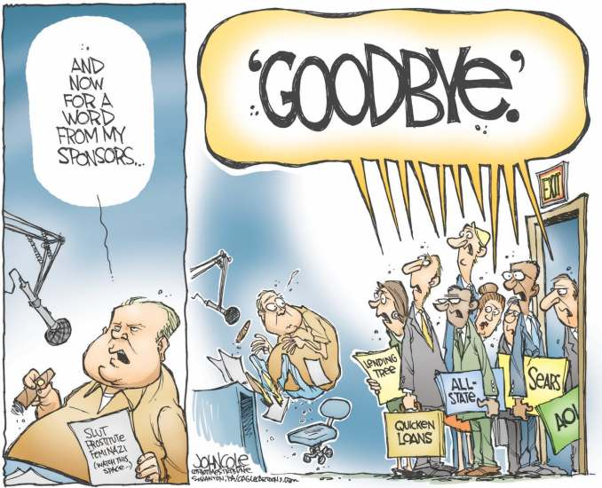 Limbaugh Sponsors by John Cole, 2012 The Scranton Times-Tribune