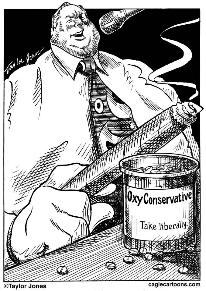Rush Limbaugh by Taylor Jones, 2009 Politicalcartoons.com