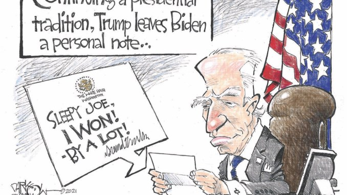 Trump leaves Biden a note by John Darkow, Columbia Missourian