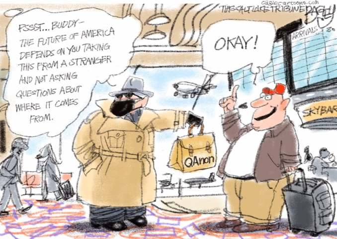 Who is Q by Pat Bagley, The Star Tribune | @Patbagley