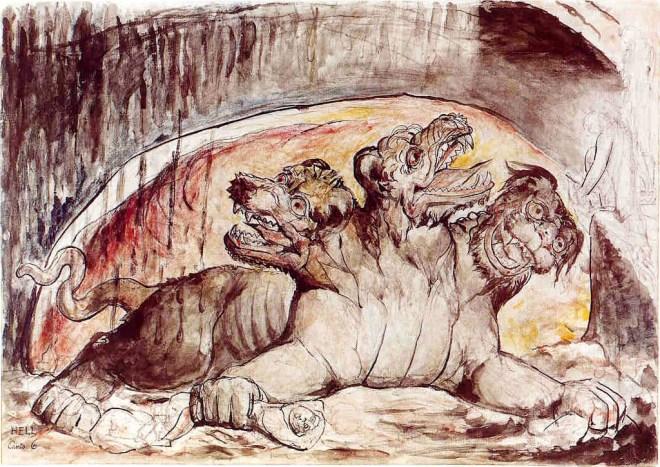 Cerberus, by W. Blake