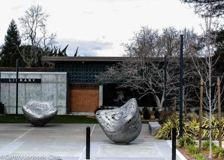 Palo Alto Public Library plaza, Palo Alto, CA